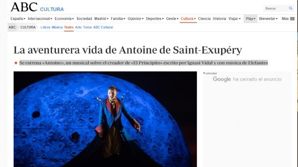 El musical Antoine en ABC Cultura